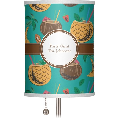 """Coconut Drinks 7"""" Drum Lamp Shade (Personalized)"""