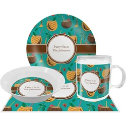 Coconut Drinks Dinner Set - 4 Pc (Personalized)