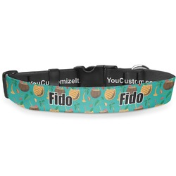 """Coconut Drinks Deluxe Dog Collar - Small (8.5"""" to 12.5"""") (Personalized)"""
