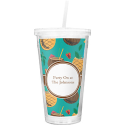 Coconut Drinks Double Wall Tumbler with Straw (Personalized)