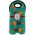Coconut Drinks Wine Tote Bag (2 Bottles) (Personalized)