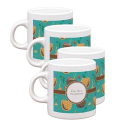 Coconut Drinks Espresso Mugs - Set of 4 (Personalized)