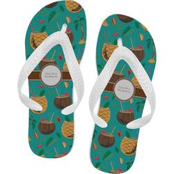 Coconut Drinks Flip Flops - XSmall (Personalized)