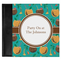 Coconut Drinks Genuine Leather Baby Memory Book (Personalized)