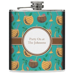 Coconut Drinks Genuine Leather Flask (Personalized)