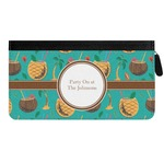 Coconut Drinks Genuine Leather Ladies Zippered Wallet (Personalized)