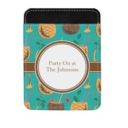 Coconut Drinks Genuine Leather Money Clip (Personalized)