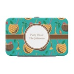 Coconut Drinks Genuine Leather Small Framed Wallet (Personalized)