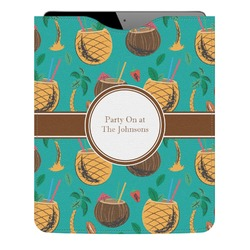 Coconut Drinks Genuine Leather iPad Sleeve (Personalized)