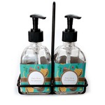 Coconut Drinks Soap & Lotion Dispenser Set (Glass) (Personalized)