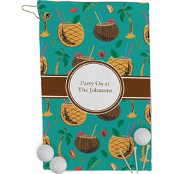 Coconut Drinks Golf Towel - Full Print (Personalized)