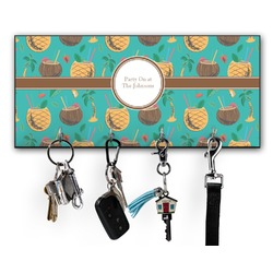 Coconut Drinks Key Hanger w/ 4 Hooks (Personalized)