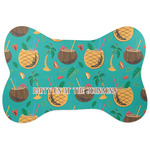 Coconut Drinks Bone Shaped Dog Food Mat (Personalized)