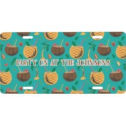Coconut Drinks Front License Plate (Personalized)