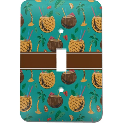 Coconut Drinks Light Switch Cover (Single Toggle) (Personalized)