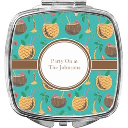 Coconut Drinks Compact Makeup Mirror (Personalized)