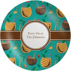 Coconut Drinks Melamine Plate (Personalized)