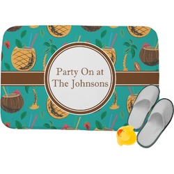 Coconut Drinks Memory Foam Bath Mat (Personalized)
