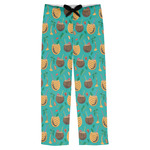 Coconut Drinks Mens Pajama Pants (Personalized)