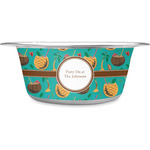 Coconut Drinks Stainless Steel Dog Bowl (Personalized)