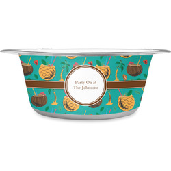 Coconut Drinks Stainless Steel Pet Bowl (Personalized)
