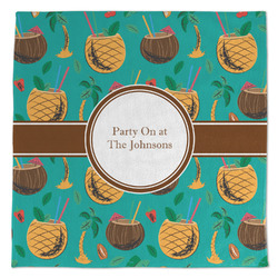 Coconut Drinks Large Microfiber Dish Rag (Personalized)