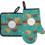 Coconut Drinks Oven Mitt & Pot Holder (Personalized)