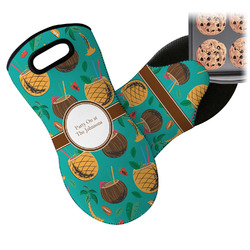 Coconut Drinks Neoprene Oven Mitts w/ Name or Text