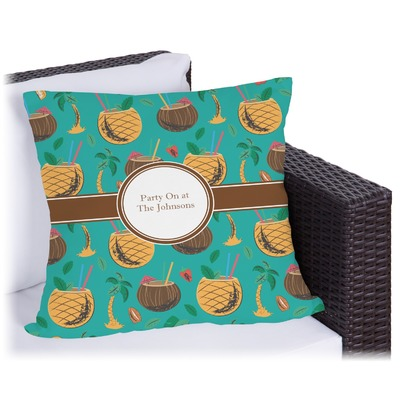 Coconut Drinks Outdoor Pillow (Personalized)