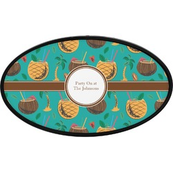 Coconut Drinks Oval Trailer Hitch Cover (Personalized)