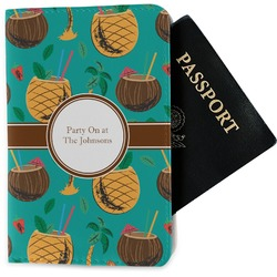 Coconut Drinks Passport Holder - Fabric (Personalized)