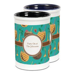 Coconut Drinks Ceramic Pencil Holder - Large