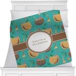 Coconut Drinks Minky Blanket (Personalized)