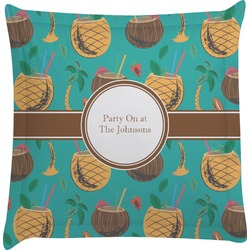 Coconut Drinks Euro Sham Pillow Case (Personalized)