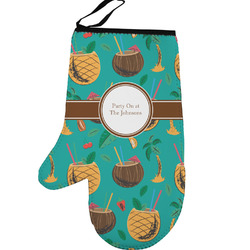 Coconut Drinks Left Oven Mitt (Personalized)