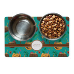 Coconut Drinks Dog Food Mat (Personalized)