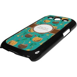 Coconut Drinks Plastic Samsung Galaxy 3 Phone Case (Personalized)