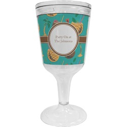 Coconut Drinks Wine Tumbler - 11 oz Plastic (Personalized)