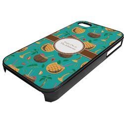 Coconut Drinks Plastic 4/4S iPhone Case (Personalized)
