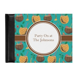 Coconut Drinks Genuine Leather Guest Book (Personalized)