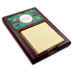 Coconut Drinks Red Mahogany Sticky Note Holder (Personalized)
