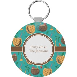 Coconut Drinks Round Keychain (Personalized)