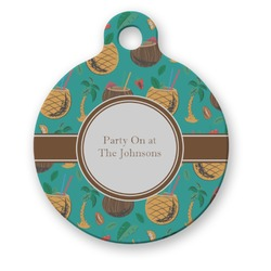 Coconut Drinks Round Pet Tag (Personalized)