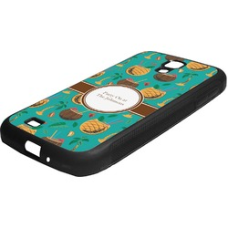 Coconut Drinks Rubber Samsung Galaxy 4 Phone Case (Personalized)