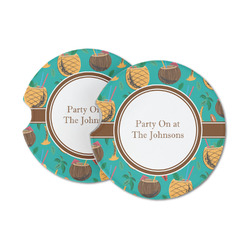 Coconut Drinks Sandstone Car Coasters (Personalized)