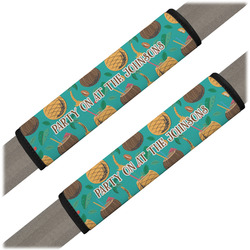 Coconut Drinks Seat Belt Covers (Set of 2) (Personalized)