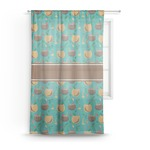 Coconut Drinks Sheer Curtains (Personalized)