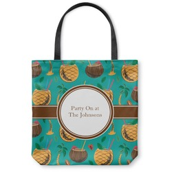 Coconut Drinks Canvas Tote Bag (Personalized)