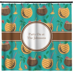 Coconut Drinks Shower Curtain (Personalized)