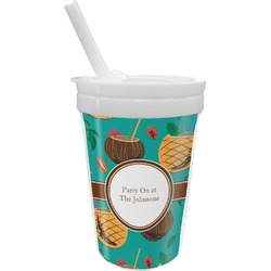 Coconut Drinks Sippy Cup with Straw (Personalized)